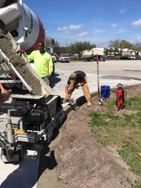 Concrete Curbing Contractor Brevard County Florida 01