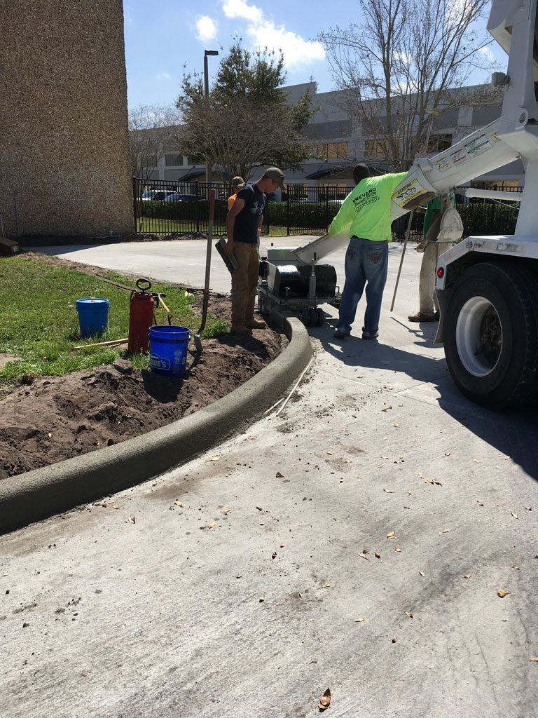 Concrete Curbing Contractor Brevard County Florida 04