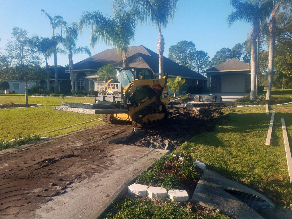 New residential concrete driveway - Mims Florida - 02