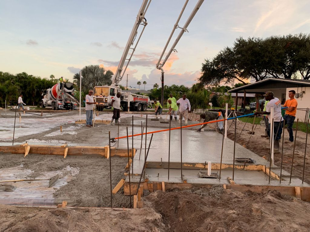 Pouring Concrete Slab in Brevard County Florida