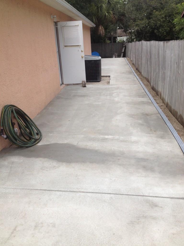 A successful concrete job in Palm Bay, Florida