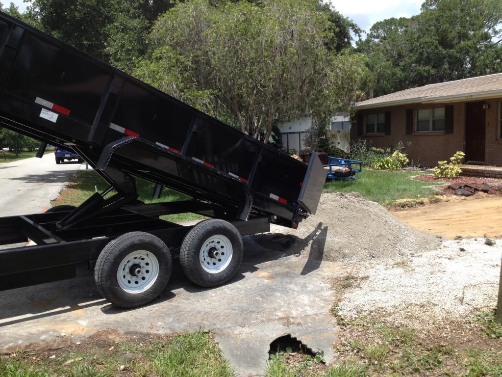 New concrete driveway in Brevard County, FL.