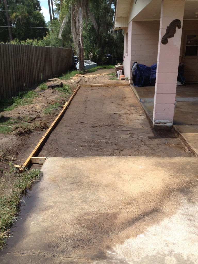 Now ready for the concrete.