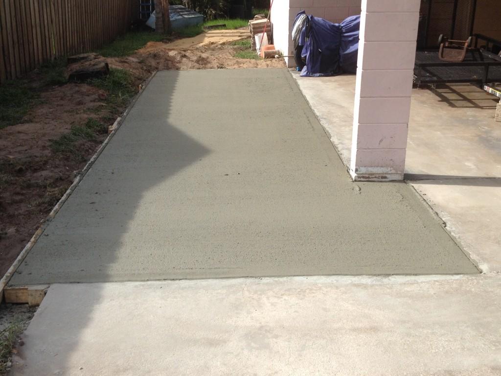 Another prefect concrete job in Merritt Island, Florida.