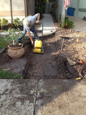Concrete pavers.