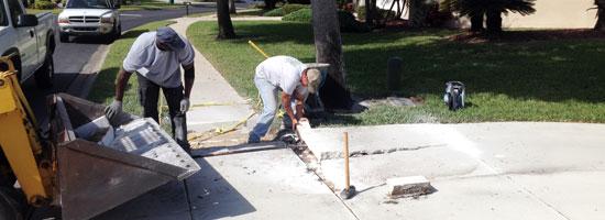 Florida Concrerte Sidewalks