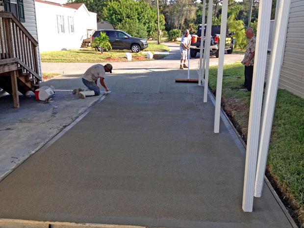 Cocoa, Florida Concrete Driveway 08