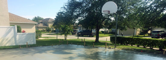 Magnolia Lakes Concert Basketball Court, Melbourne FL