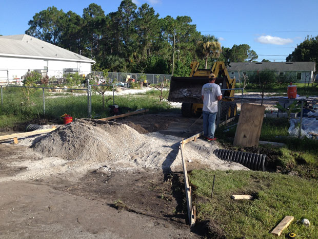 Concrete Driveway with Culvert in Palm Bay, FL 02