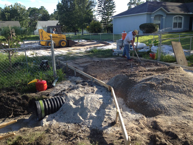 Concrete Driveway with Culvert in Palm Bay, FL 03