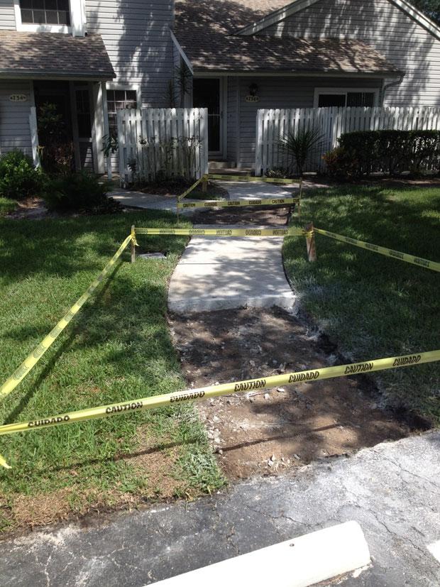 Players Club Concrete Sidewalk Repairs-02