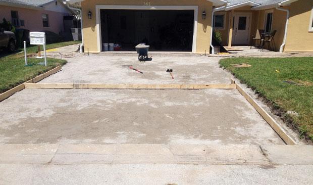 Concrete Driveway Cocoa Beach, FL 01