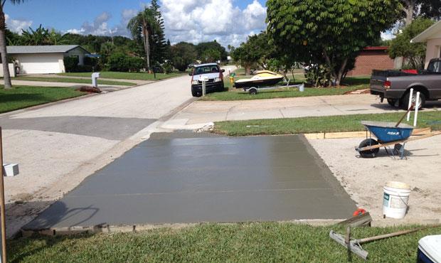 Concrete Driveway Cocoa Beach, FL 03