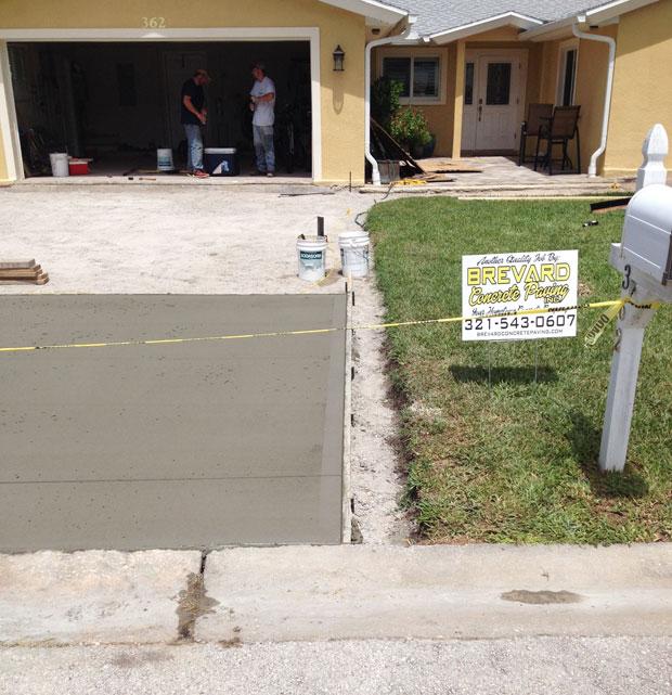 Concrete Driveway Cocoa Beach, FL 07