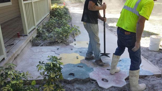 Custom Stamped Concrete Sidewalk 03