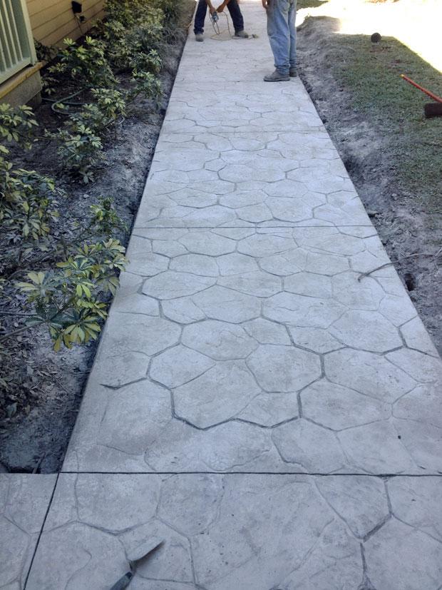 Custom Stamped Concrete Sidewalk 05