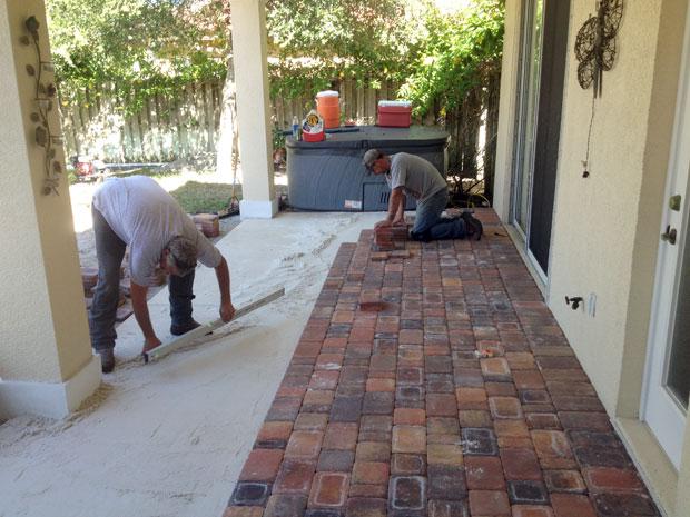 Cobblestone Brick Patio Brevard County, Florida-13