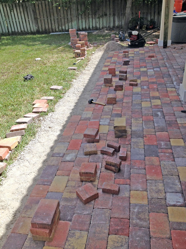 Cobblestone Brick Patio Brevard County, Florida-15