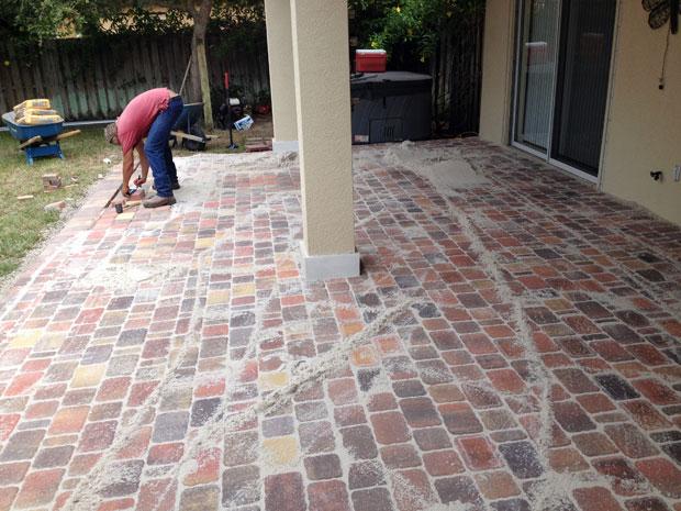 Cobblestone Brick Patio Brevard County, Florida-16