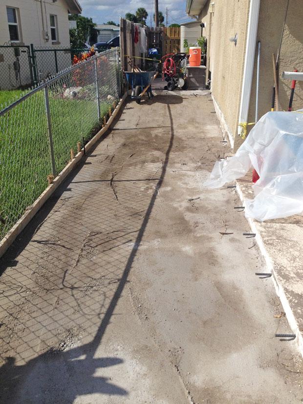 Concrete Patio Extension on Merritt Island, FL-01