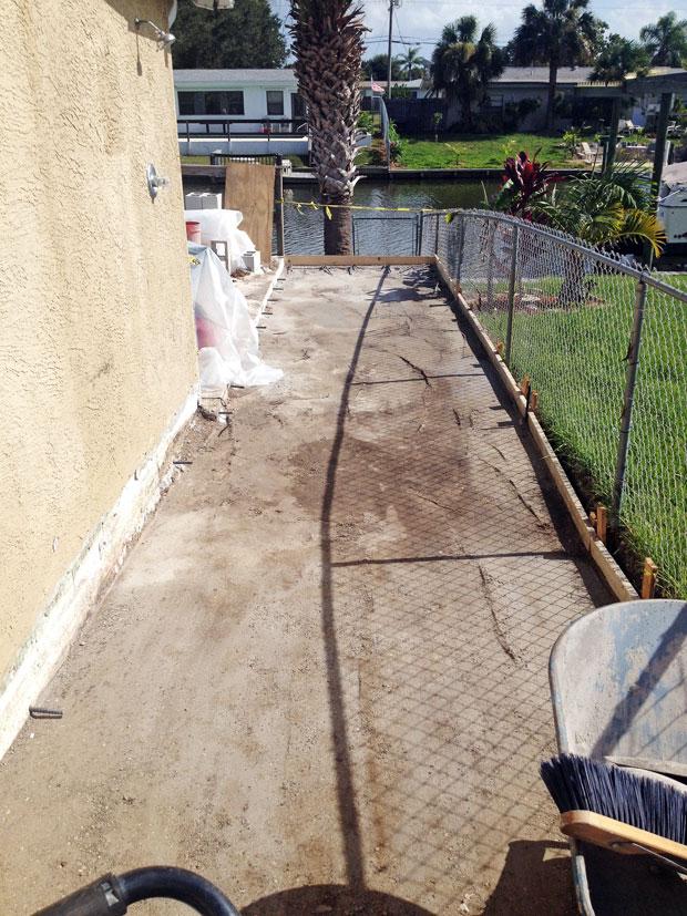Concrete Patio Extension on Merritt Island, FL-02