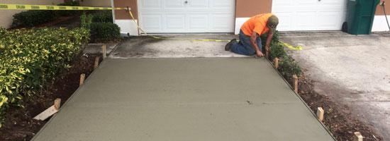 Concrete driveway Melbourne, Florida - main