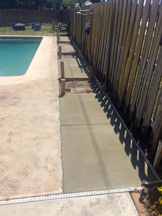 Concrete Pool Deck Extension, Melbourne, Florida