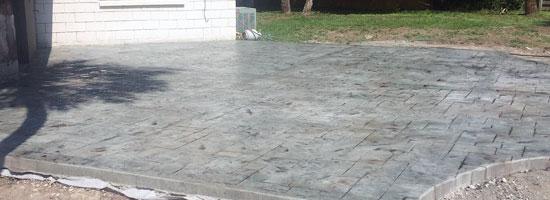 Custom Stamped Concrete Patio