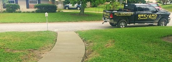 Merritt Island FL Concrete Sidewalk & Patio