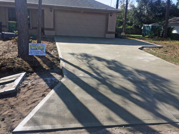 Concrete Driveway Port St. John Florida 10