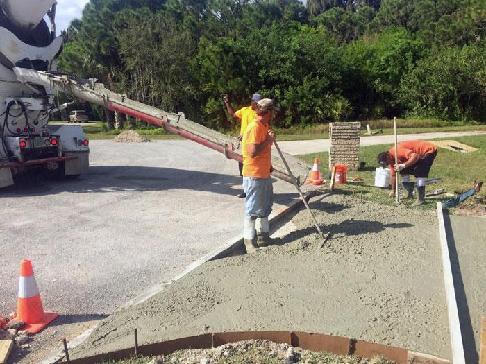 New Concrete Driveway Melbourne FL 08