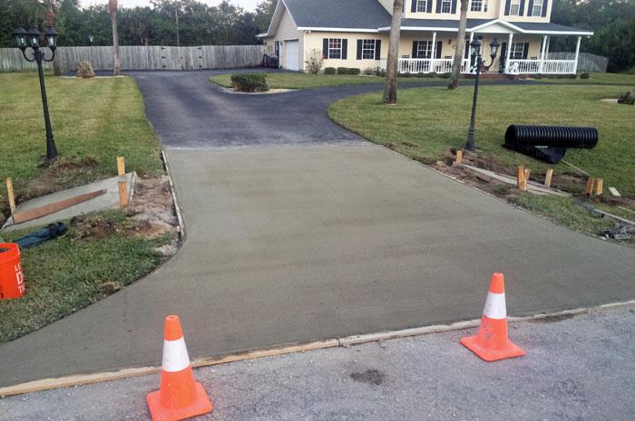 New Concrete Driveway Melbourne FL 12