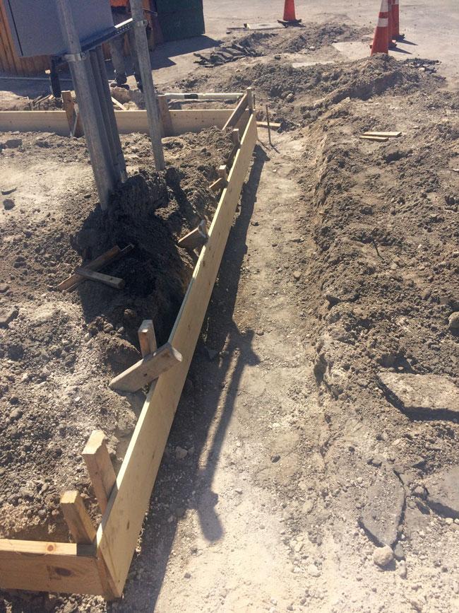 Concrete F-Curb, Melbourne, Florida - 02