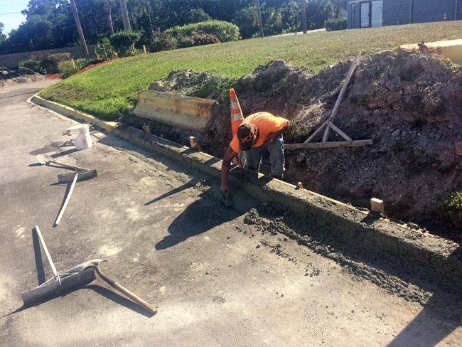 Concrete F-Curb, Melbourne, Florida - 05