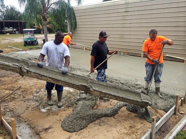 Concrete slab Merritt Island Florida - 05