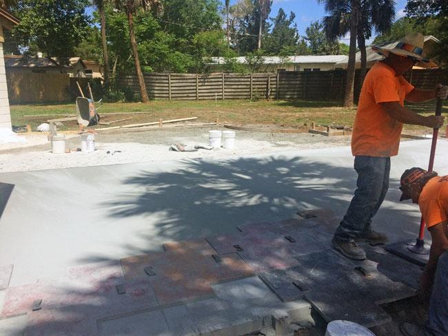 Custom Stamped Concrete Patio Cocoa, Florida - 11