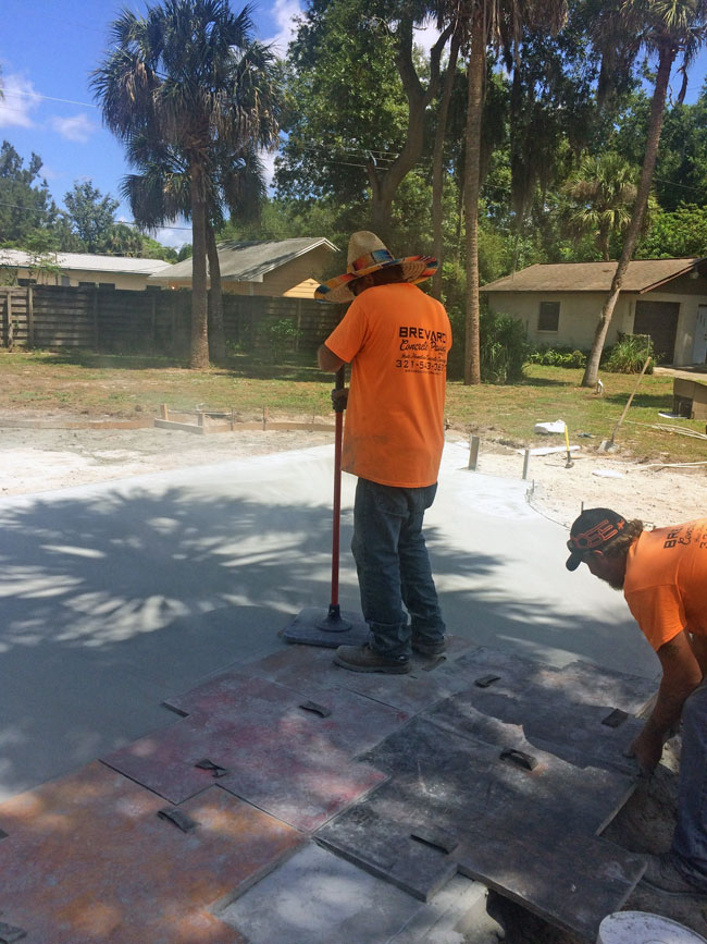 Custom Stamped Concrete Patio Cocoa, Florida - 12