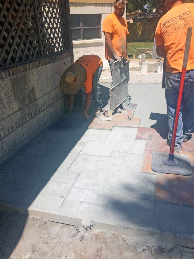 Custom Stamped Concrete Patio Cocoa, Florida - 13