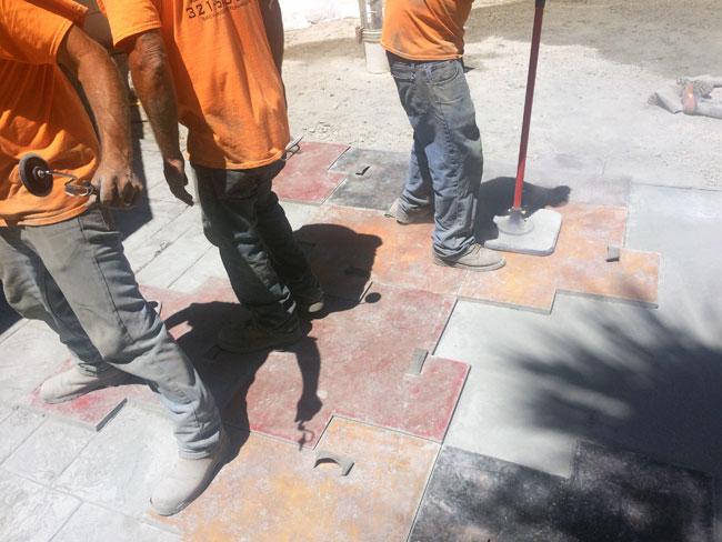 Custom Stamped Concrete Patio Cocoa, Florida - 14