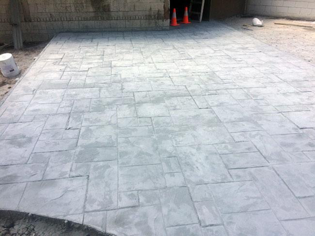 Custom Stamped Concrete Patio Cocoa, Florida - 18