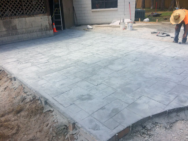 Custom Stamped Concrete Patio Cocoa, Florida - 19