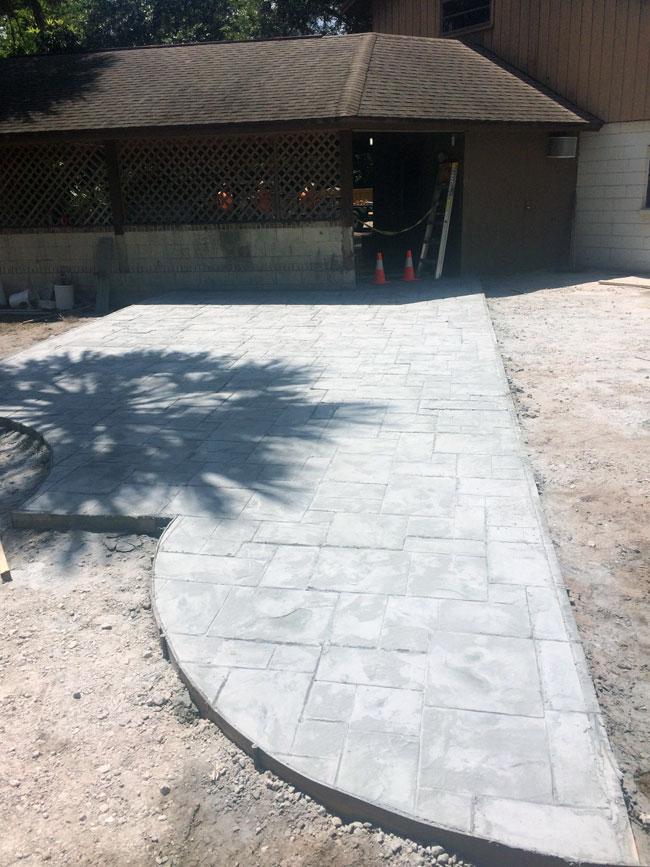 Custom Stamped Concrete Patio Cocoa, Florida - 20