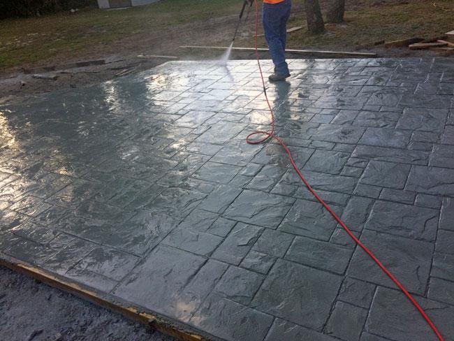 Custom Stamped Concrete Patio Cocoa, Florida - 22