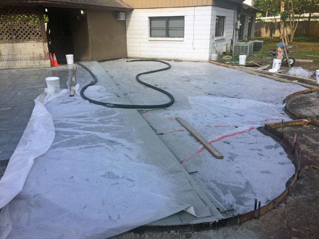 Custom Stamped Concrete Patio Cocoa, Florida - 23