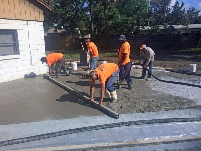 Custom Stamped Concrete Patio Cocoa, Florida - 26