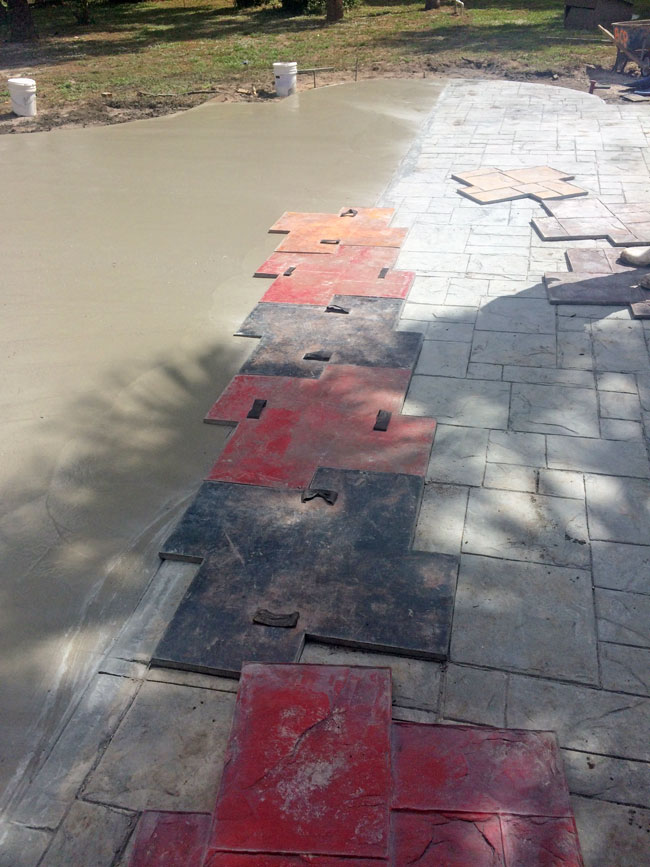 Custom Stamped Concrete Patio Cocoa, Florida - 27