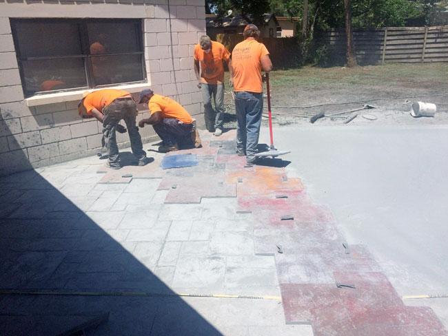 Custom Stamped Concrete Patio Cocoa, Florida - 29