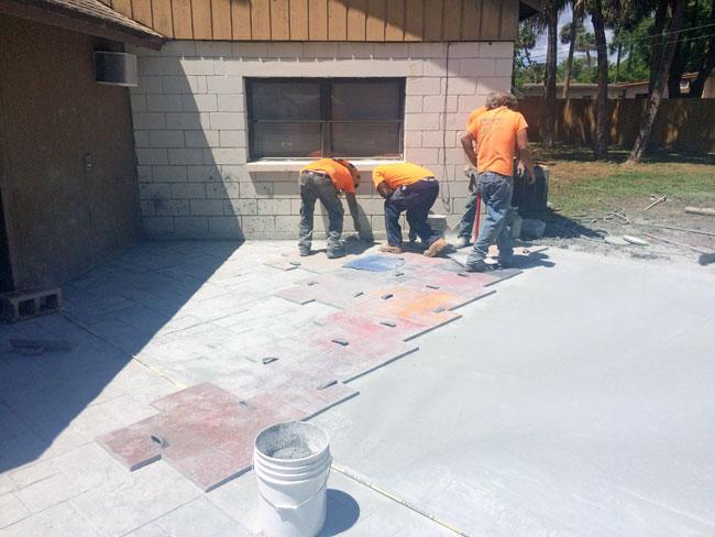 Custom Stamped Concrete Patio Cocoa, Florida - 30