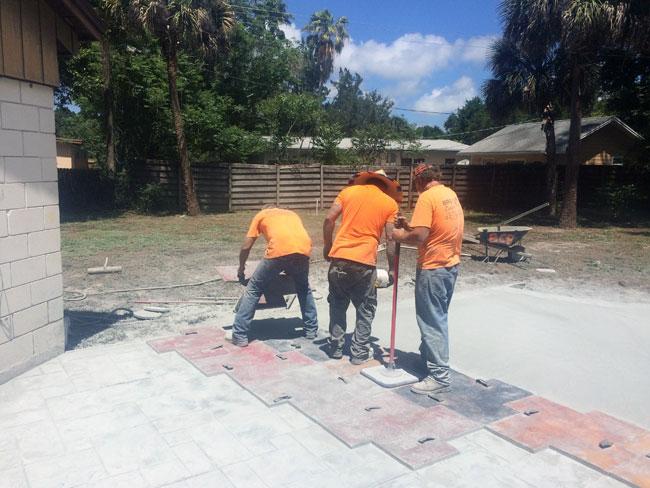 Custom Stamped Concrete Patio Cocoa, Florida - 31