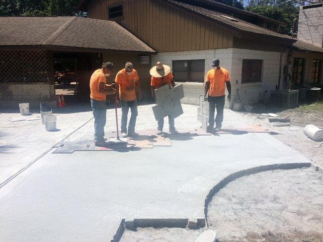 Custom Stamped Concrete Patio Cocoa, Florida - 32